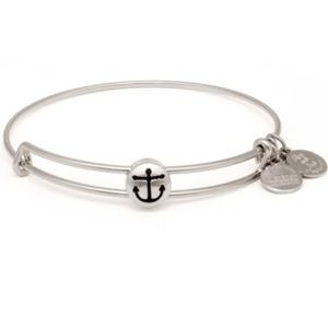 Alex and Ani anchor bracelet in silver